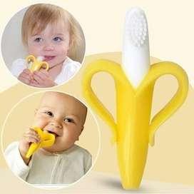 gigitan bayi sikat gusi bayi banana