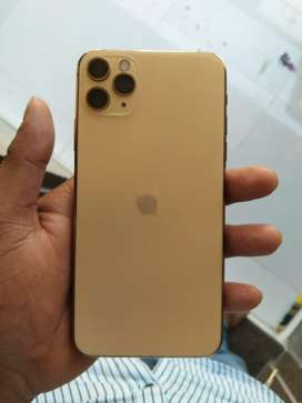 Iphone 11 pro max 64gb full kit gold color