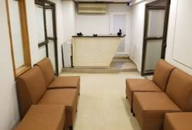 Shared office space with team rooms and private room available