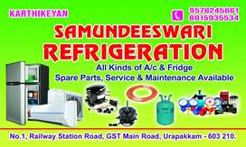AC and fridge service and spare parts at low cost