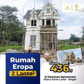 Rumah 2 Lantai di Cluster Konsep Eropa Dalam Kawasan Agrowisata Bogor