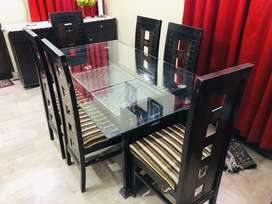 Decent Six Chairs Dining Table