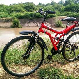 Cycle with dual suspension