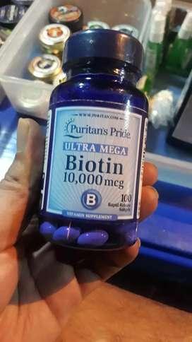 Biotin 10.000 mcg ecer paling murah original penumbuh rambut,brewok