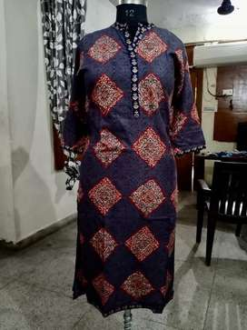 Jaipuri print kurti and plazo