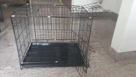 Black cage for puppy one month old