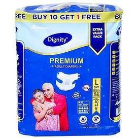 ADULT DIAPER NEW PACK 10+1( +7 DIAPER FREE)PRICE  RS.300 ONLY