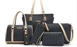 6 Bags set in One Price - Brand New  - Blue Color