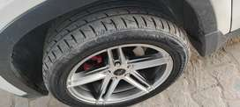 Brande new 17inch alloy and new low profile tyre