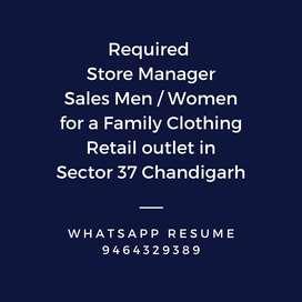 Required Sales Men/Women
