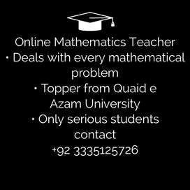 I am a brilliant in Mathematics and looking for some sincere students.