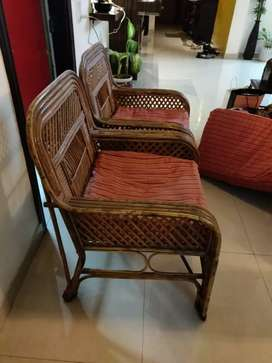 5 seater real bamboo cane sofa. Very good condition