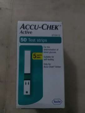 Accu chek active testing strips