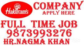 Haldiram job hiring store keeper helper supervisor computer opretor