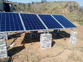 Complete solar ups system with A.C inverter and without a.c