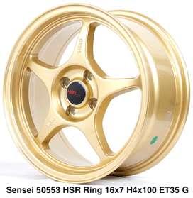 Velg selasa SENSEI 50553 HSR R16X7 H4X100 ET35 GOLD
