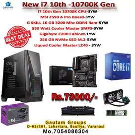 i7 10th gen10700k Msi z590bord gaming 16gb ram 550watt smps 256gb nvme