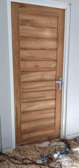Daun pintu jati minimalis