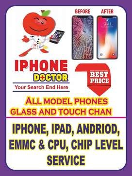 All branded mobile phone broken glass and display change very low pric
