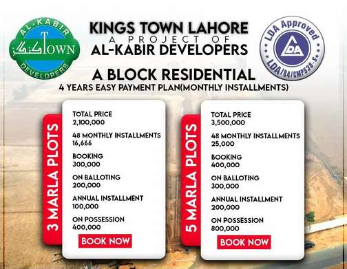 Alkabir Phase 3 Booking Start 3 Marla Plot Available For Booking