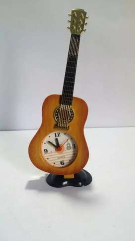 Brand new unused Decorative Guitar Table Clock with Alarm