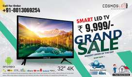 Cosmos Smart Led Tv 32inch just 9999 with Free Installation and warran
