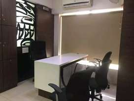 For rent 758sq fit fully furnished office tcc prahladnagar road