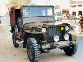 modified simple military look willys jeeps