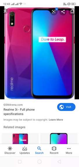 Realme 3i 4GB/64GB only 5 months old with bills