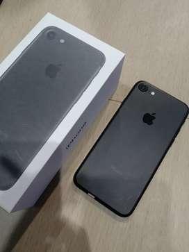 IPhone, IPhone 7 Black Matte 128GB Fullset !!!