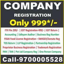 PRIVATE LTD COMPANY REGISTRATION 999