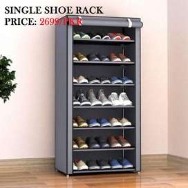 Shoe Rack locate the length, breadth and peak of the rack you