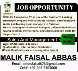 Required Male & Female