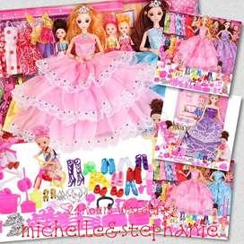 SAY09-Hadiah anak Pretend Play  barbie Mainan anak perempuan Dress Up
