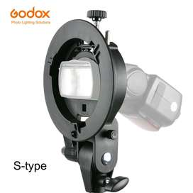 Godox S Speedlite Flash Mount Holder Bracket - Black