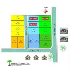 Kavling muear 77m 4menit dari Pasar Tawangsari,  lorog Tawangsari