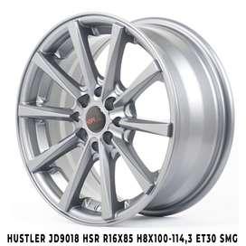 Velg murah harga distributor HUSTLER JD9018 HSR R16X85 H8X100-114,3 ET