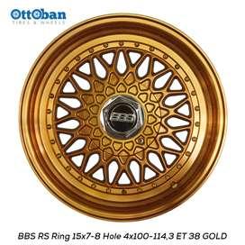 jual velg replika bbs rs ring 15 pcd 4x100 114,3 estilo