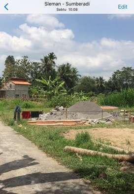 Tanah sawah muka 13m  luas 155 milik pribadi termurah di Mlati