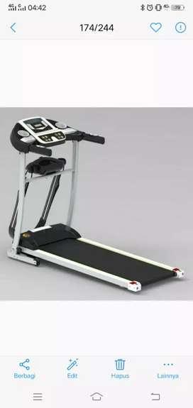Alat fitnes treadmill elektrik 2 fungsi venice promo