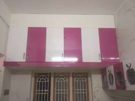 Modern kitchen frame work TV unit