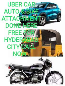 UBER CAR AUTO & BIKE ATTACHMENT FREE DONE HERE FOR HYDERABAD CITY