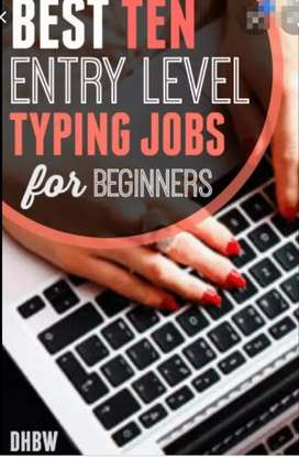 Need male and female people for typing job everyone apply
