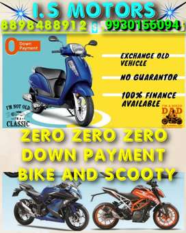 ALL BIK and SCOOTY zero down payment