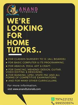 Looking for highly experienced home tutors for all areas in Jabalpur