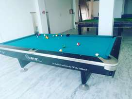 Two Snooker table 6x12, and one american pool table