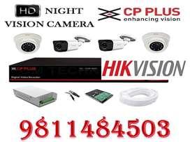 CCTV camera kit hikvision & cp plus cctv installation all over delhi a