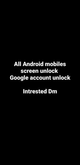 Mobiles screen lock open and frp Google lock open