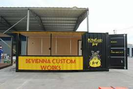 Booth Container coffee shop Container cafe Containerrestoran Container