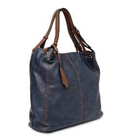 Roadster Navy Blue Embroidered Shoulder Bag